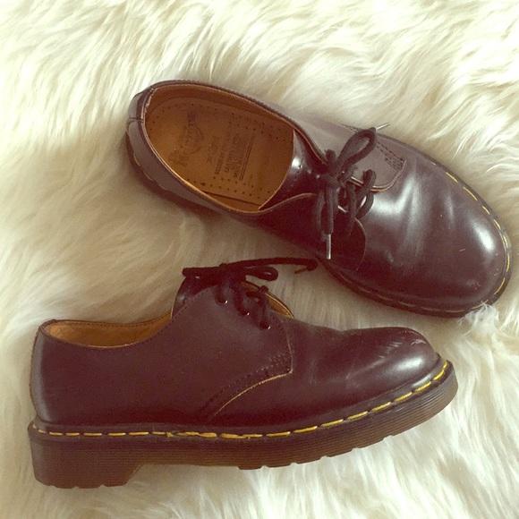 Dr. Martens Shoes - DOC MARTENS 💯% Authentic Burgundy Brown Oxfords